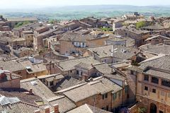 Aerial view of Siena, Tuscany, Italy Royalty Free Stock Photos