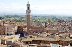 Aerial view of Siena, Tuscany, Italy Stock Images