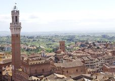 Aerial view of Siena, Tuscany, Italy Royalty Free Stock Photography