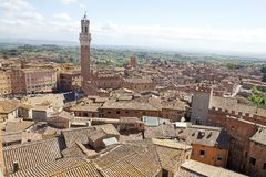 Aerial view of Siena, Tuscany, Italy Royalty Free Stock Images