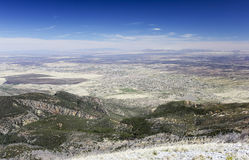 An Aerial View of Sierra Vista, Arizona, from Carr Peak Stock Image