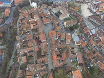 Aerial view of Sighisoara Royalty Free Stock Images