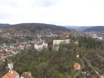 Aerial view of Sighisoara Stock Images
