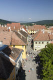 Aerial view of Sighisoara, Romania Stock Photo