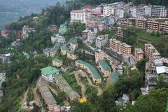 Aerial View of Gangtok,capital city of Sikkim stock photos
