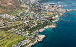 Aerial view of Simonstown South Africa Royalty Free Stock Photos