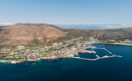 Aerial view of Simonstown South Africa Royalty Free Stock Image