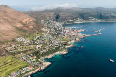 Aerial view of Simonstown & x28;South Africa& x29; Stock Photo