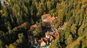 Aerial view of Sinaia royalty free stock photo