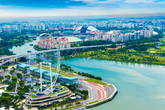 Aerial view of Singapore in Asia Royalty Free Stock Photos
