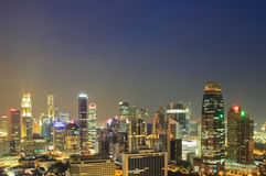 Aerial view Singapore city Royalty Free Stock Photography