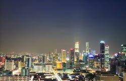 Aerial view Singapore city Stock Photo