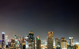 Aerial view Singapore city Royalty Free Stock Images