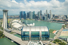 Aerial view of Singapore city with nice sky Stock Photo