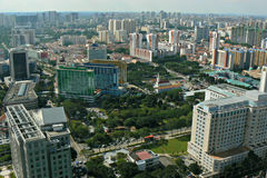 Aerial view - Singapore city Stock Image