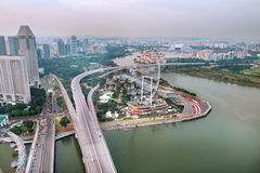 Aerial view of Singapore Royalty Free Stock Photos