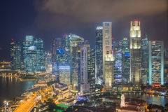 Aerial view of Singapore  Royalty Free Stock Photos