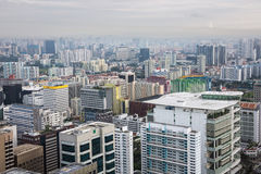 Aerial view of Singapore Royalty Free Stock Images