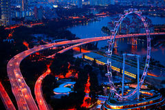 Aerial view on Singapore Flyer Stock Photos