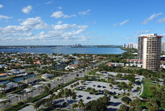Singer Island, Florida. Aerial view of Singer Island and North Palm Beach, Florida with Lake Worth Stock Photo