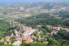 Aerial view of Sintra Stock Photos
