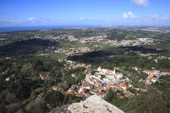 Aerial view of Sintra Royalty Free Stock Images