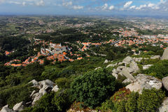 Aerial view of Sintra, Portugal Royalty Free Stock Photos