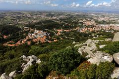 Aerial view of Sintra, Portugal Royalty Free Stock Photography