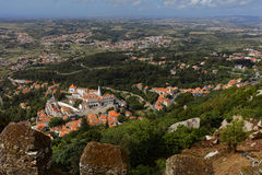 Aerial view of Sintra, Portugal Stock Photography