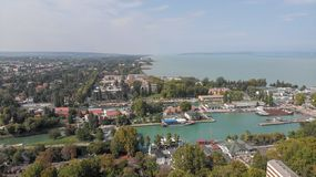 Aerial view of Siofok stock photo