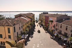Aerial view on Sirmione, Italy. Royalty Free Stock Photography
