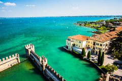 Aerial view of SIRMIONE. Italy Stock Photo