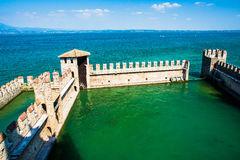 Aerial view of SIRMIONE Royalty Free Stock Photography