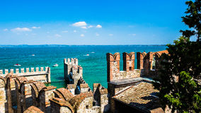 Aerial view of SIRMIONE. Italy Royalty Free Stock Photography