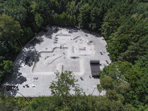 Aerial view of skate park Royalty Free Stock Photo