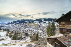 Aerial View on Ski Resort Megeve in French Alps Stock Images