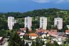 Skofja Loka, Slovenia. Aerial view of Skofja Loka, Slovenia - Europe Stock Photos