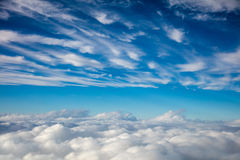 Aerial view -  sky and clouds background Royalty Free Stock Photography