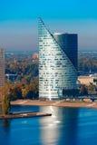 Aerial view of skycraper in Riga, Latvia royalty free stock images