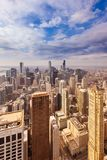 Aerial view of the skyline of downtown Chicago Royalty Free Stock Photos