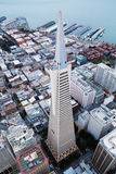 Aerial view of skyscraper Stock Images