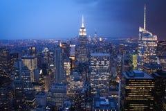 Aerial View of Skyscraper Buildings stock photo