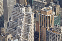 Aerial view of skyscrapers in Manhattan Stock Photo