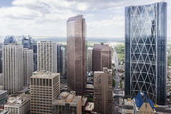 Aerial view of skyscrapers and Towers Stock Photo