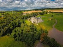 Aerial view. Slane Castle. county Meath. Ireland. Aerial view of Slane Castle and gardens. county Meath. Ireland Royalty Free Stock Photos