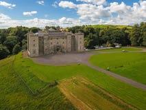 Aerial view. Slane Castle. county Meath. Ireland. Aerial view of Slane Castle and gardens. county Meath. Ireland Stock Photo