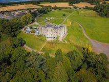 Aerial view. Slane Castle. county Meath. Ireland. Aerial view of Slane Castle and gardens. county Meath. Ireland Stock Photos
