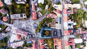 Aerial view of slovak town Banska Bystrica surrounded by mountai Stock Photo