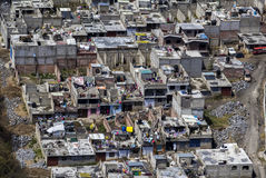 Aerial view of slums in mexico city Royalty Free Stock Image