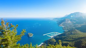 Aerial view of Antalya Rat Island, Turkey Stock Images